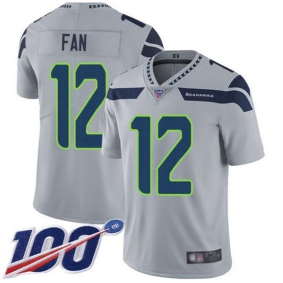 NFL Other - Seattle Seahawks 12 Fan 100th Season Jersey